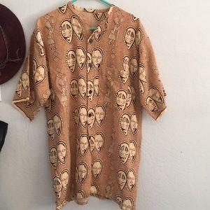 Vintage men's cotton shirt